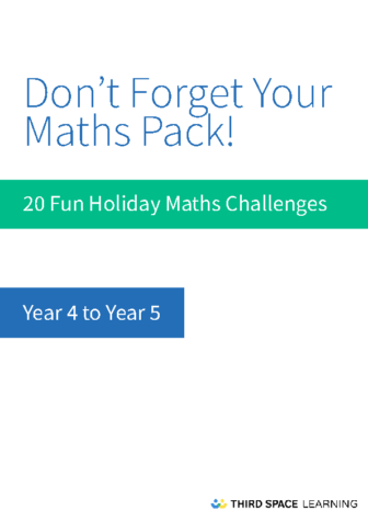 Y4-Y5 Holiday Maths Pack