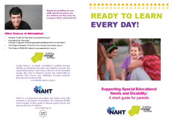 Supporting SEN & Disability
