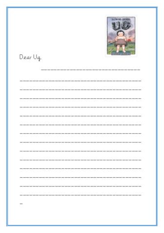 Dear Ug letter template