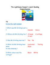 thumbnail of The Lighthouse Keepers Lunch Comprehension