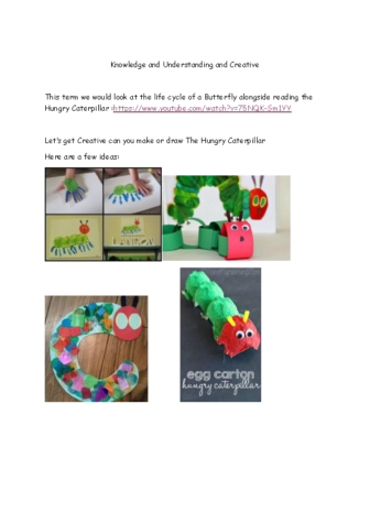 Hungry Caterpillar K and U and Creative