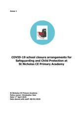 thumbnail of COVID19 – School safeguarding policy addendum