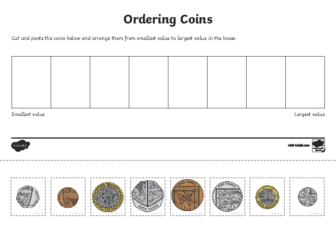 Money ordering coins