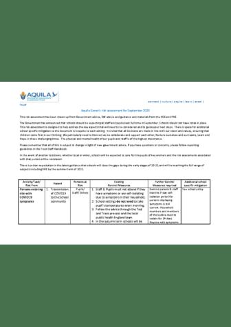 Aquila Risk Assessment