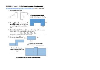 25.2.21 Perimeter of rectiliniar shapes