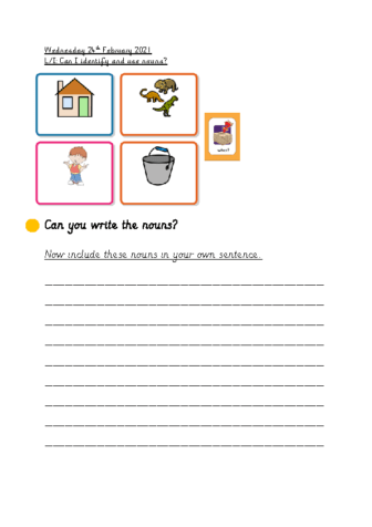 Wednesday 24th February Using Nouns