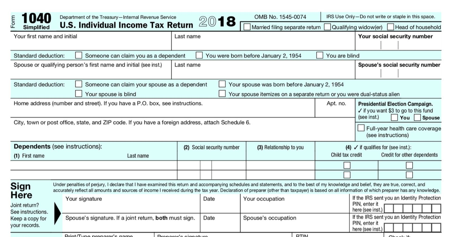 The Irs Proposes A New Face Lift For Individual Tax Form