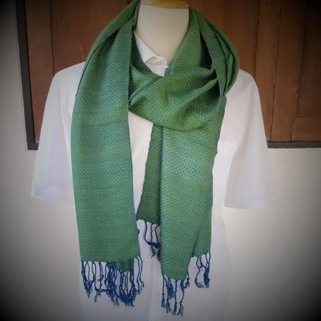 een helgroene sjaal mag ook komende winter