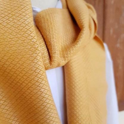 oranje effen sjaal