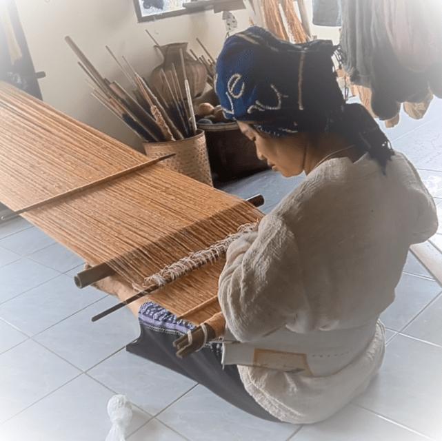 mobiel weefgetouw van garen en bamboe