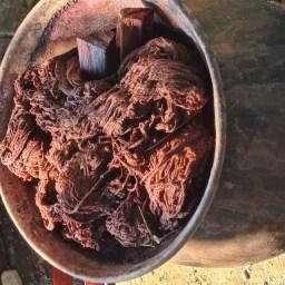 katoen geverfd in natuurlijke verfstoffen