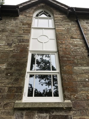 Restored chapel windows on the new picture framers