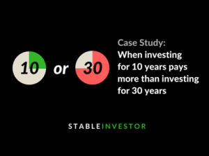 Case Study – When investing for 10 years pays more than investing for 30 years