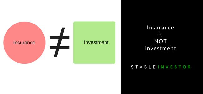 insurance vs investment