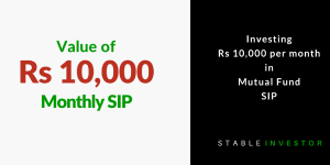 Invest Rs 10000 per month SIP Mutual Funds
