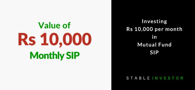 Invest 10000 month SIP