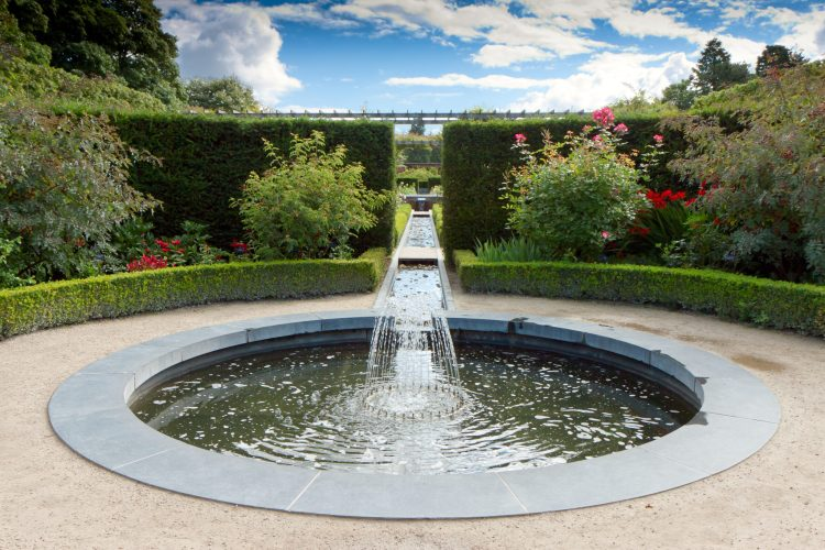 Water feature in Alnwick Castle gardens northumberland, Stablewood Coastal Cottages