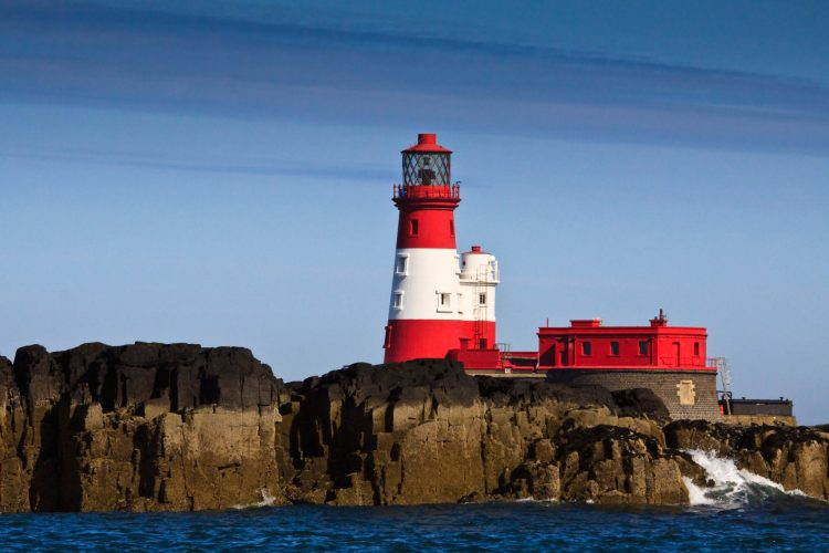 Farne Lighthouse, Northumberland, Stablewood Coastal Cottages