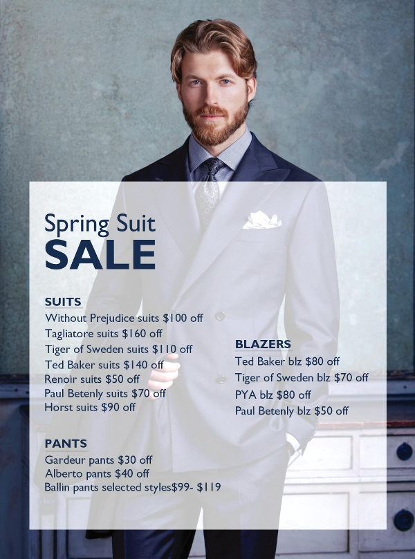 2015 Staccato Vancouver Menswear Spring suit sale