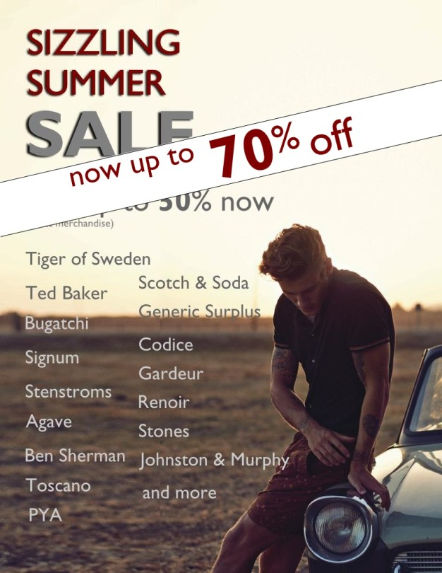 Staccato Menswear Vancouver Summer Sale