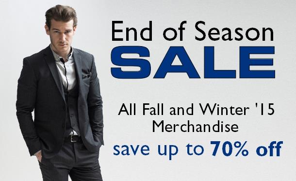 2015 End of Season Sale Staccato Menswear Fashion Suits