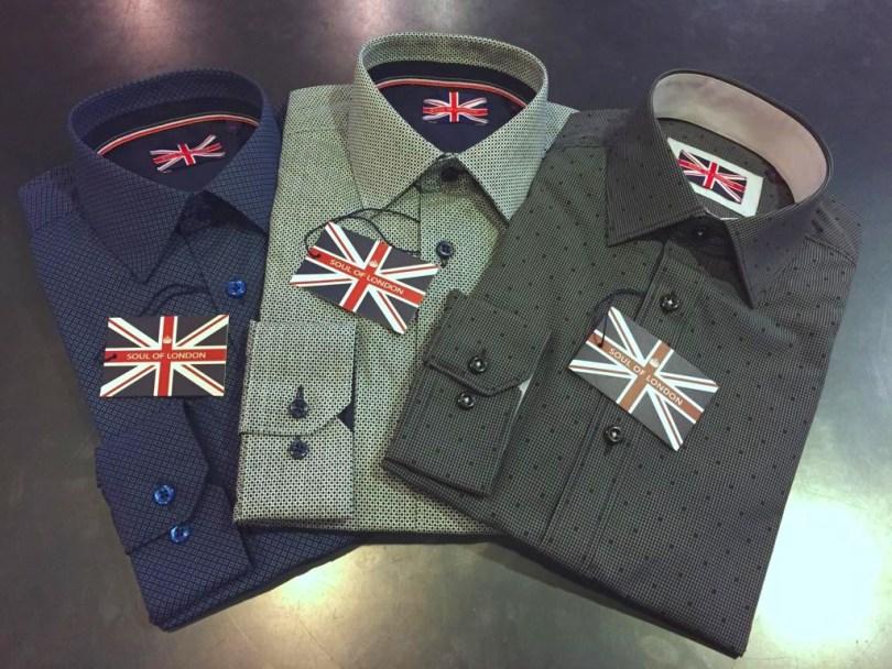 Soul of London Dress Shirts Staccato Menswear Vnacouver