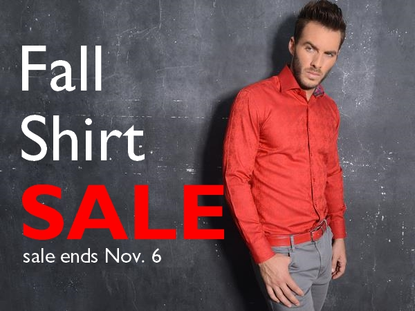 2016 Fall Shirt Sale Staccato Menswear Suits Shirts