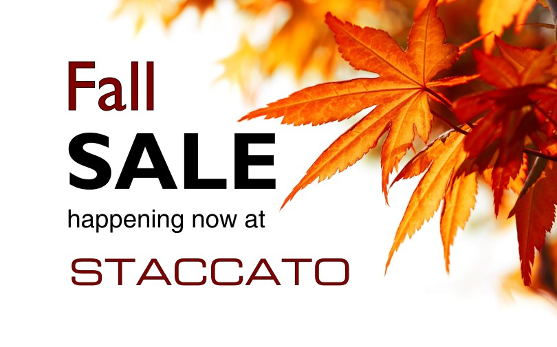 2017 Staccato Fall Sale Vancouver Music Burnaby Kitsilano