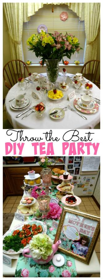 I threw my mom the best tea party for Mother's Day! It was so special, she cried when she saw it! I'm sharing how I did it on a budget and without breaking the bank!