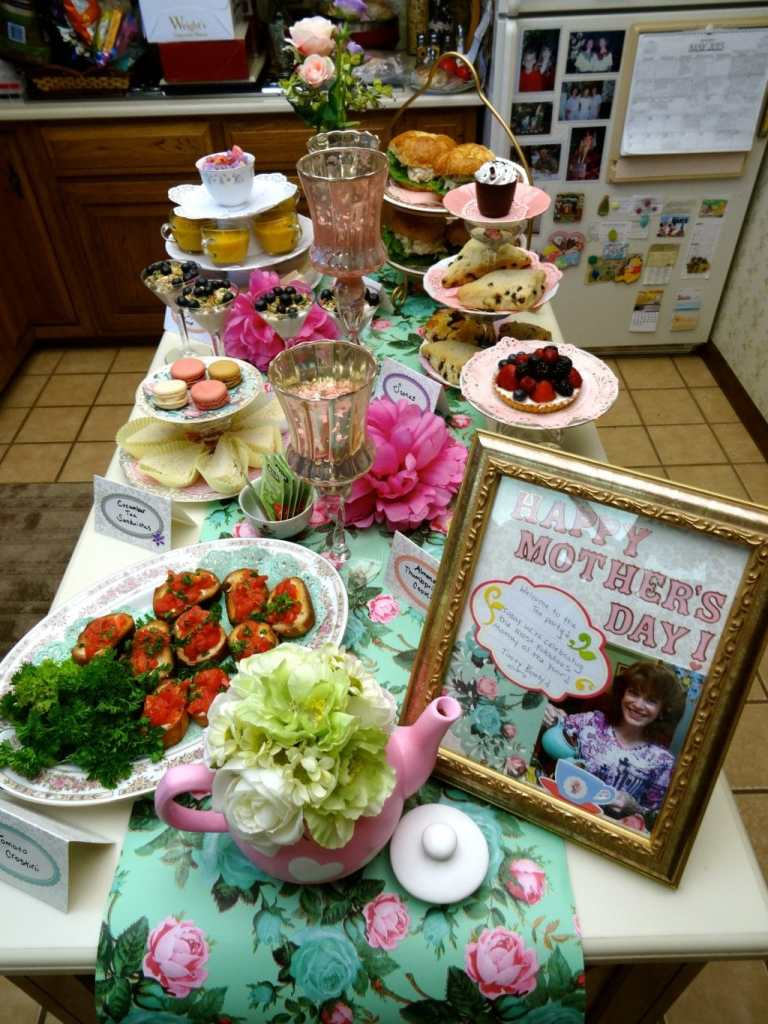 mother's day buffet table