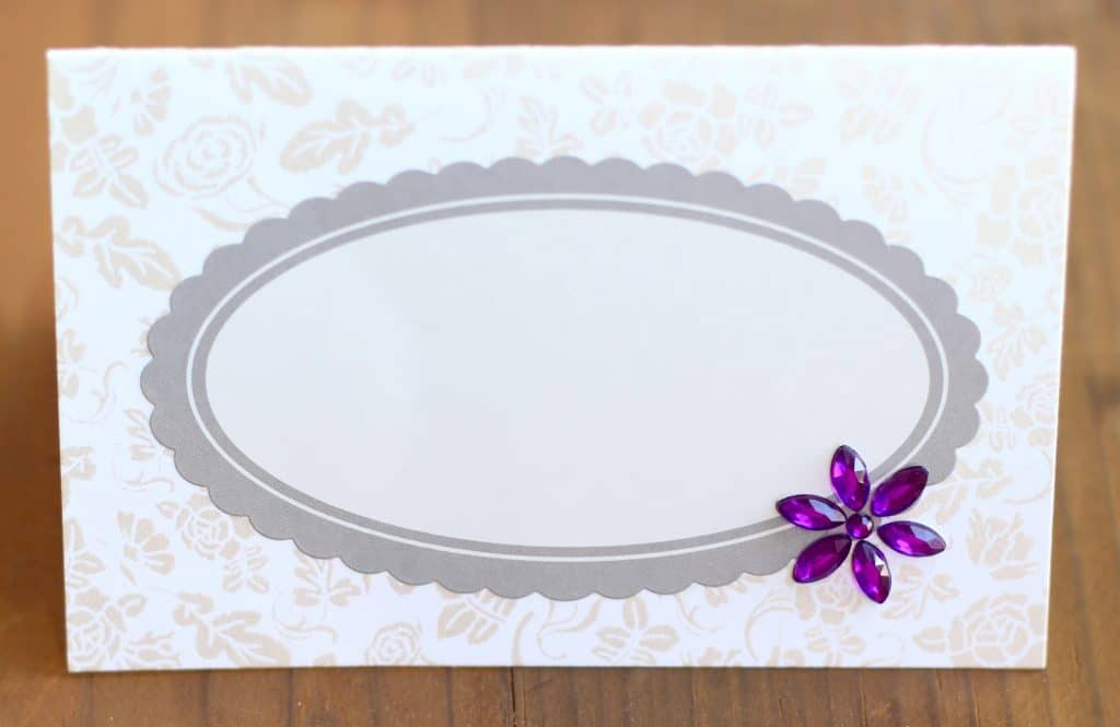 DIY feminine, girly, place cards that you can make in 5 minutes! Perfect for a bridal shower, tea party, Easter or girls night!