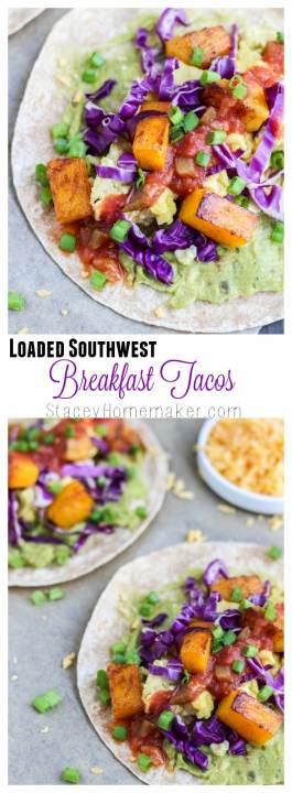 loaded southwest breakfast tacos