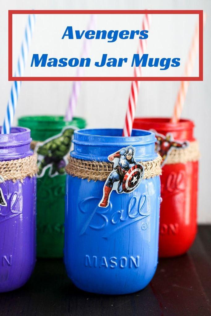 Avengers Mason Jar Mugs