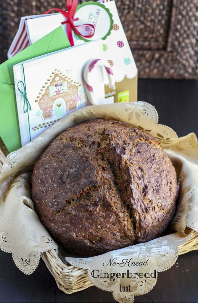 Perfectly spiced gingerbread loaf that's so easy to make, and requires NO kneading!