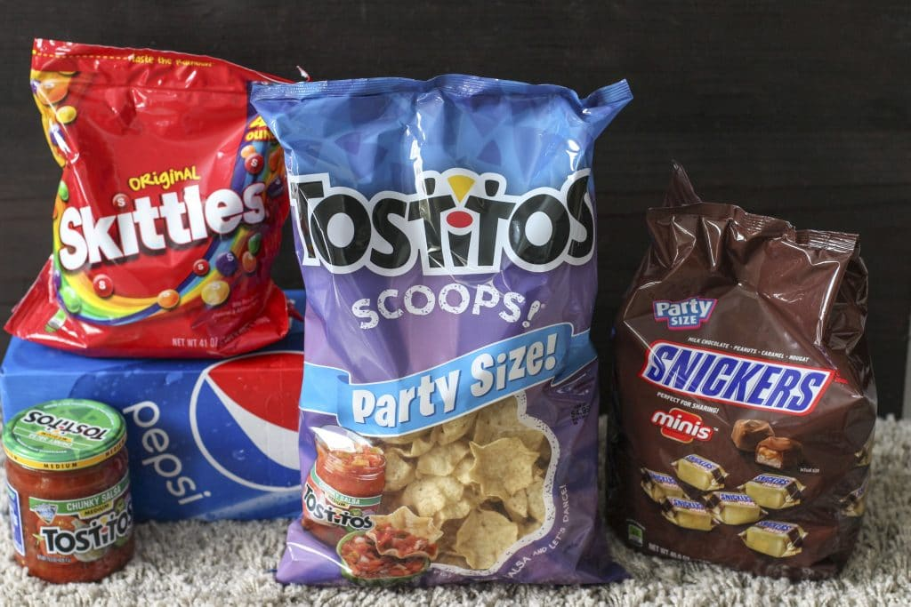 Ingredients for the ultimate snack stadium