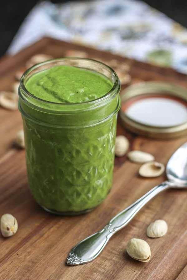Pistachio kale sauce