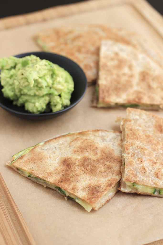 Spicy zucchini quesdadillas are so easy to make, the perfect lunch!