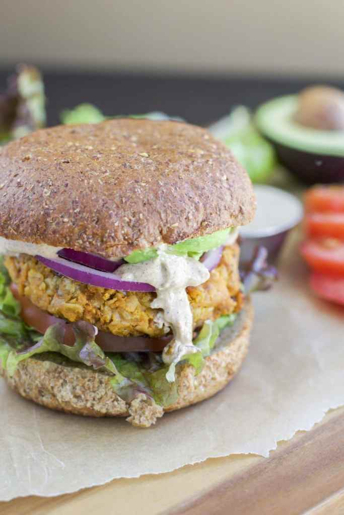 Clinton Kelly's sweet potato burgers is my favorite veggie burger I've ever tried! Vegan & Vegetarian. Everyone in the family will love these burgers!