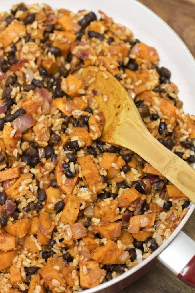 sweet potato black bean enchilada filling