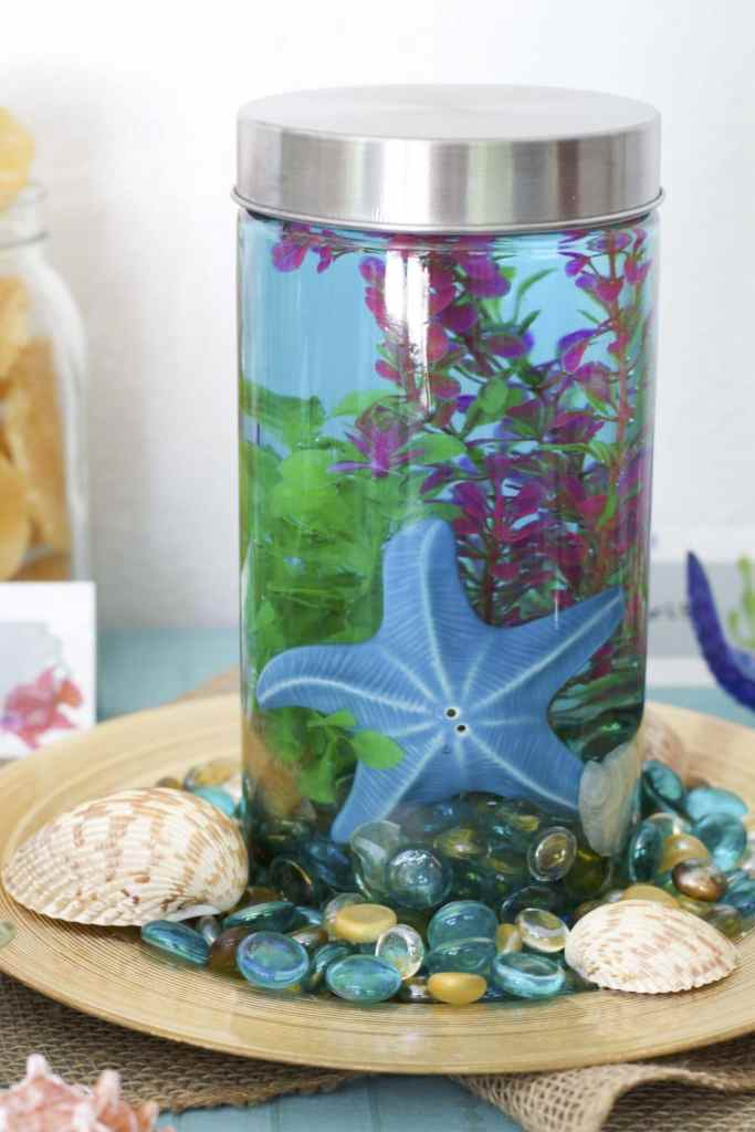under the sea summer pizza party aquarium centerpiece