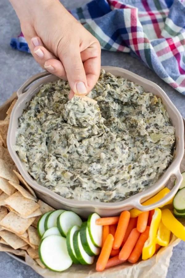 Cashew Cream Spinach Artichoke Dip