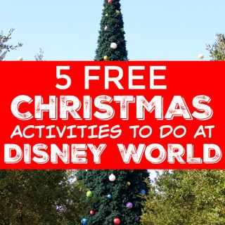 List of 5 free christmas activities to do in Disney World