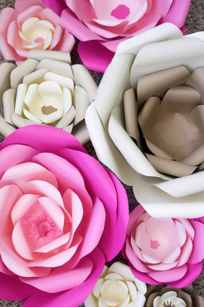 How to make large paper flowers note dont worry you dont have to make the mothers day sign with paper flowers if you dont have time or if youre not into crafting mightylinksfo Images