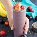 Vegan Cherry High Protein Smoothie