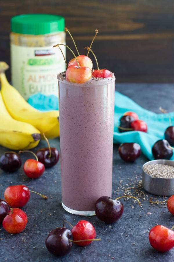 Vegan Cherry High Protein Smoothie