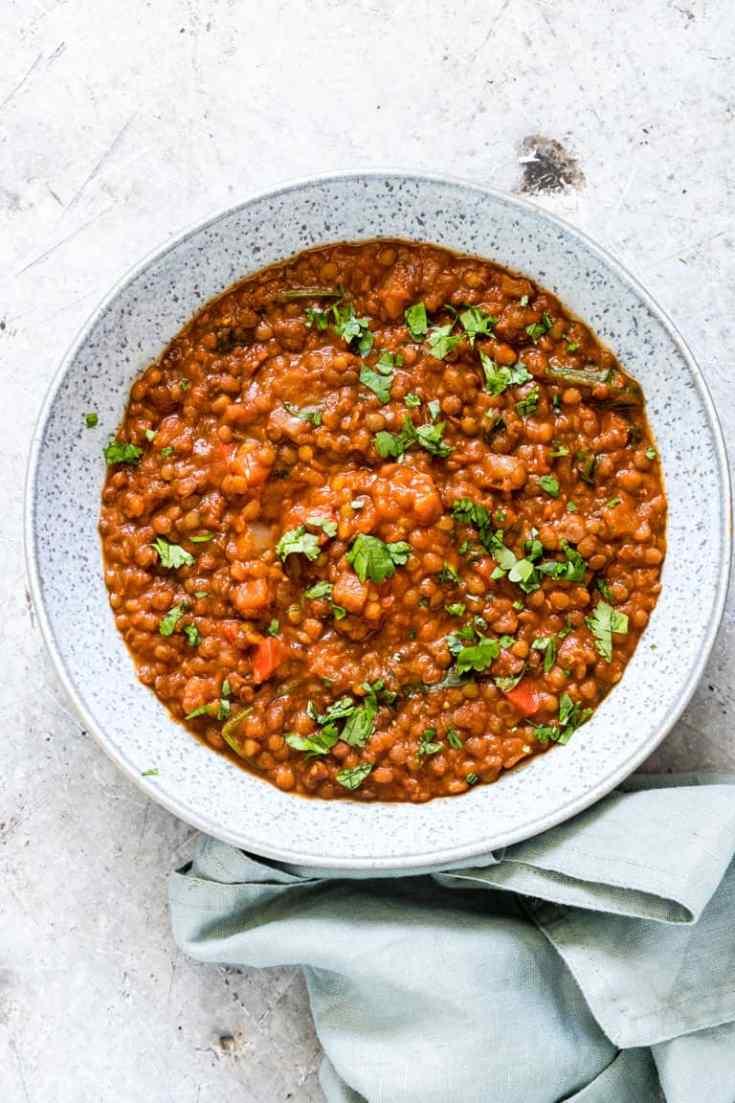 Instant Pot Mexican Lentil Soup {Vegan, Gluten-Free}