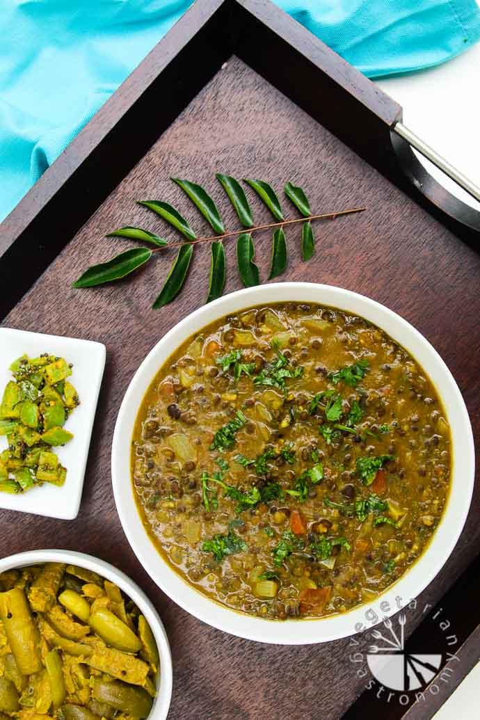 Curried Black Lentil (Urad) Soup