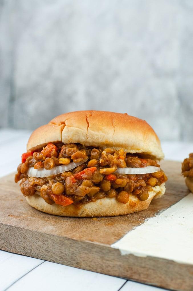 Instant Pot Vegan Lentil Sloppy Joes - Cozy Peach Kitchen