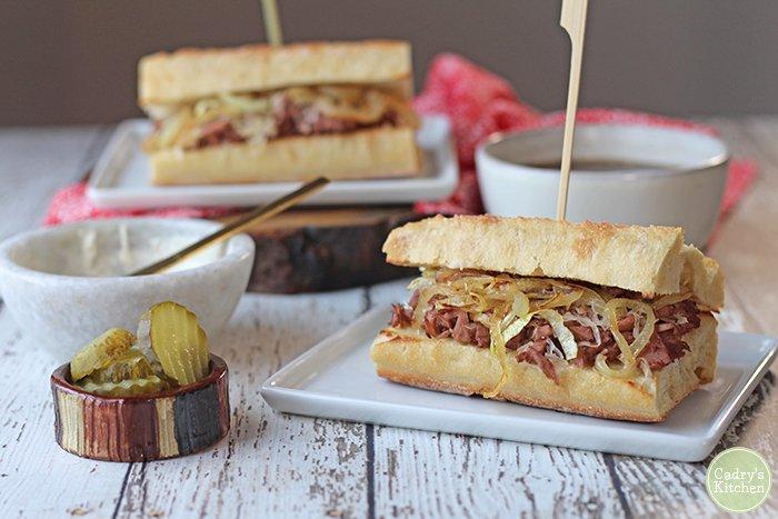 Vegan French Dip Sandwich with Au Jus