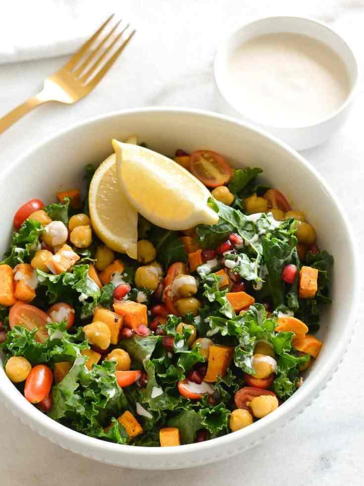 Roasted Sweet Potato Kale Bowl